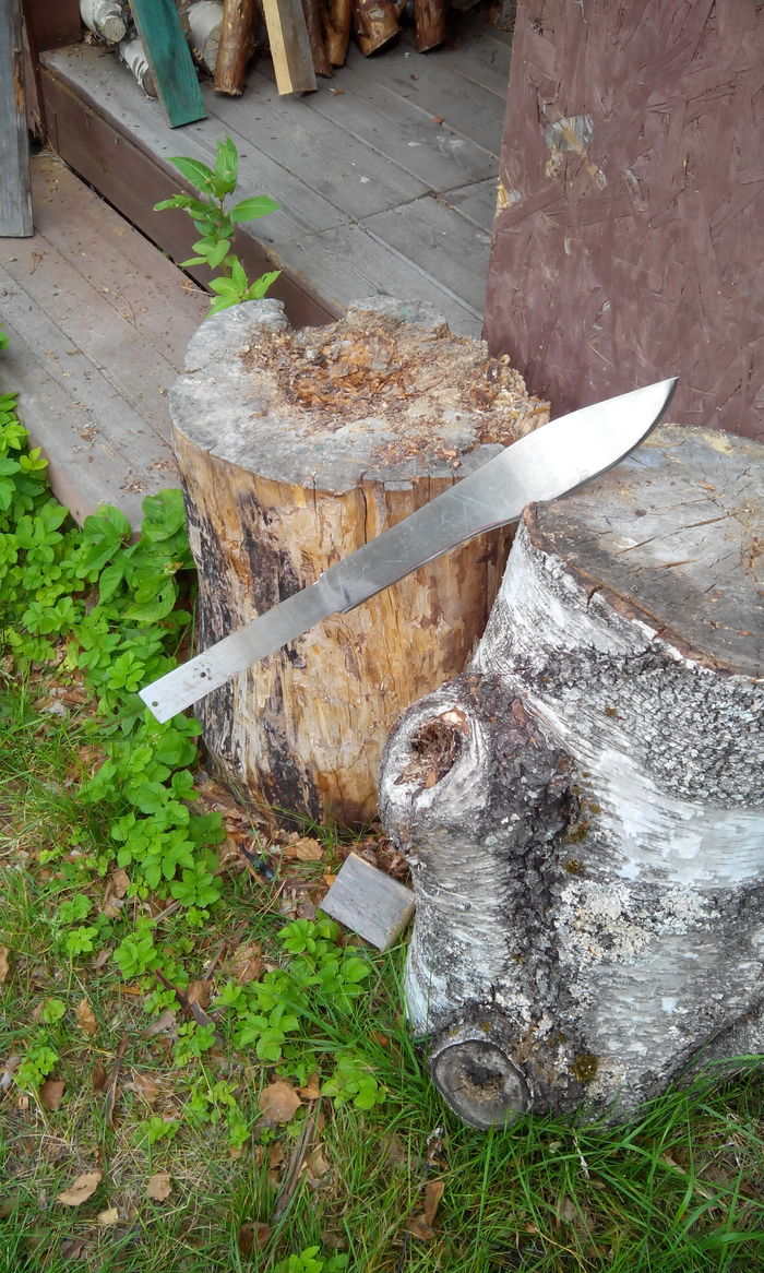 Переделка мачете в домашних условиях Оружие, Холодное оружие, Своими руками, Рукоделие с процессом, Работа с деревом, Длиннопост, Нож, Мачете