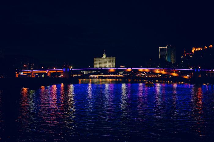 Вечерняя прогулка по Москве-реке Москва-Река, Отражение, Свет, Река, Длиннопост