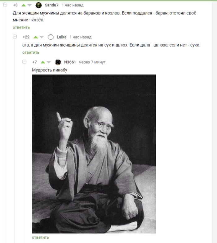 Мудрость Пикабу Комментарии на пикабу, Скриншот, Мудрость