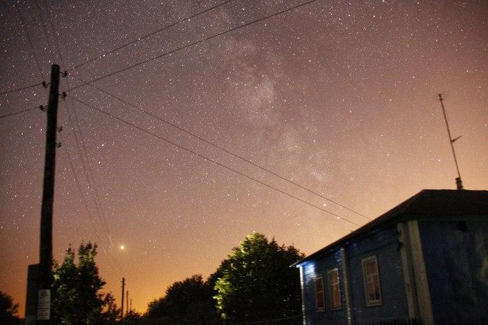Вечер в деревне Млечный путь, Марс, Небо, Звёзды