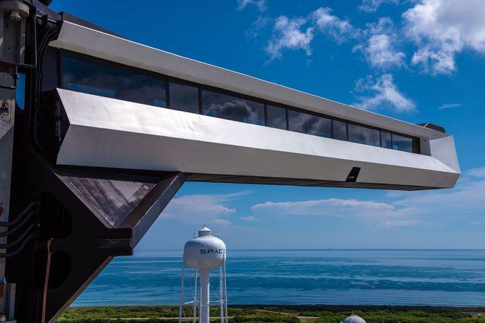 Трап для астронавтов Spacex, Kennedy Space Center, Трап, Рампа, Космос, Космодром, Эстетика