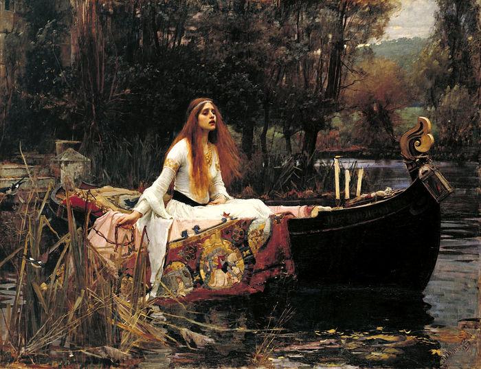 Ладья леди Шалотт в живописи Живопись, Мифология, Король Артур, Длиннопост