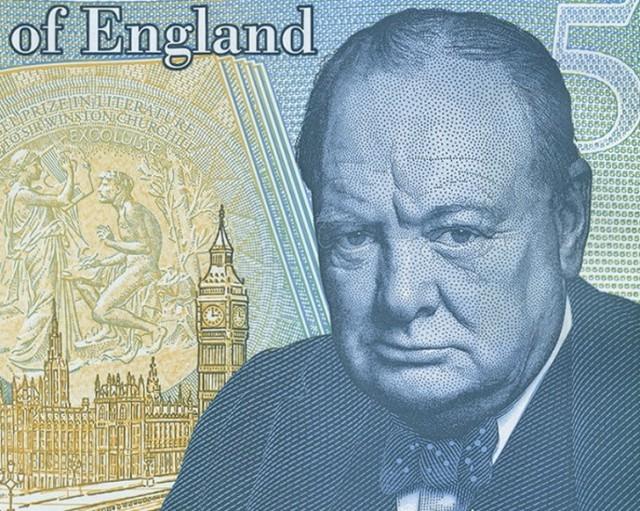 Почему Уинстон Черчиль, изображенный на 5-фунтовой купюре, выглядит сердито Черчилль, 5 фунтов стерлингов, Сердитый, Сигара, Купюра, Реальный факт