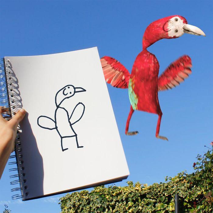 Марта фотошопа, детский смешной рисунок как нарисовать