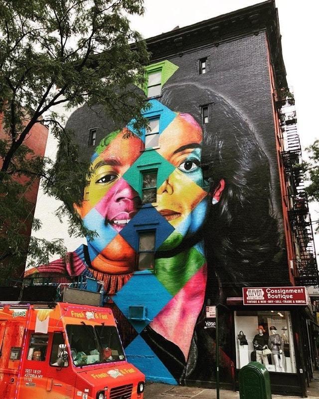 До и После. Майкл Джексон Граффити, Рисунок, Дом, Звезда, Майкл Джексон, До и после, Заграница, Reddit