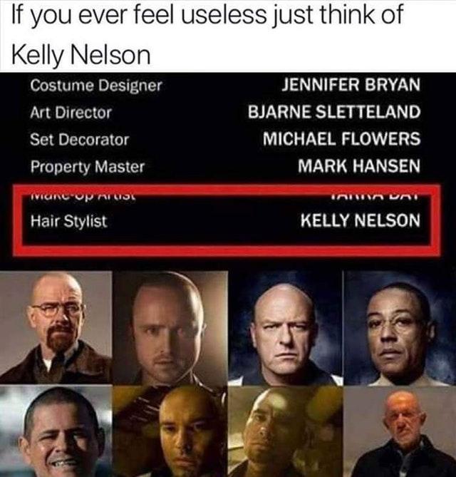 Если вы почувствуете себя бесполезным, просто подумайте о Келли Нельсон