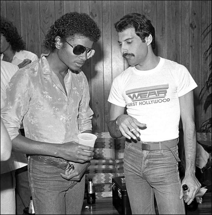 Майкл Джексон и Фредди Меркьюри , 1980