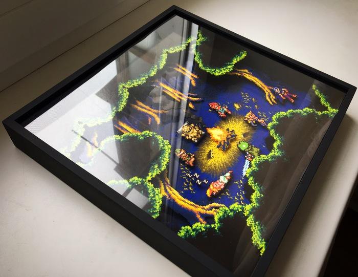 Диорама по Chrono Trigger Chrono Trigger, Ручная работа, Своими руками, Картина, Pixel art, SNES, Арт, Диорама, Длиннопост
