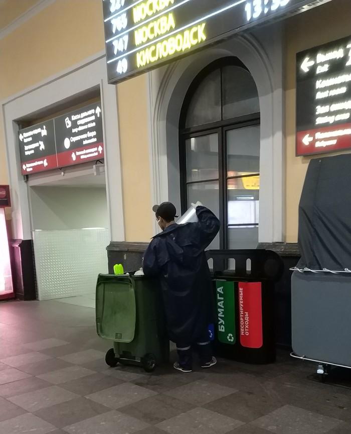 Раздельный сбор мусора в культурной столице. Санкт-Петербург, Мусор, Чистомен, Московский вокзал, Длиннопост