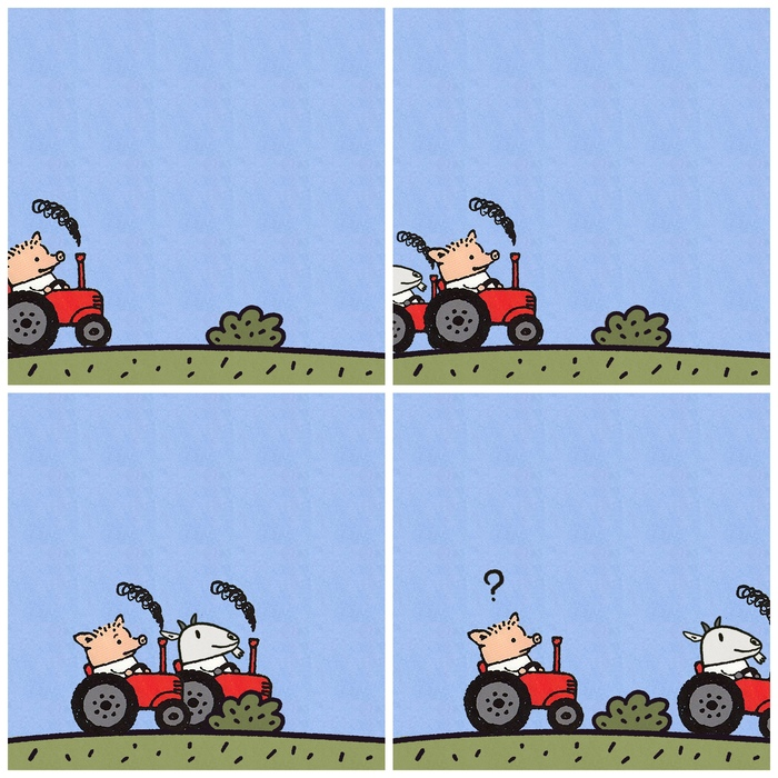 Новость №652:Козы предпочли счастливые человеческие лица Образовач, Комиксы, Поросенок петр, Козел, Коза, Счастье