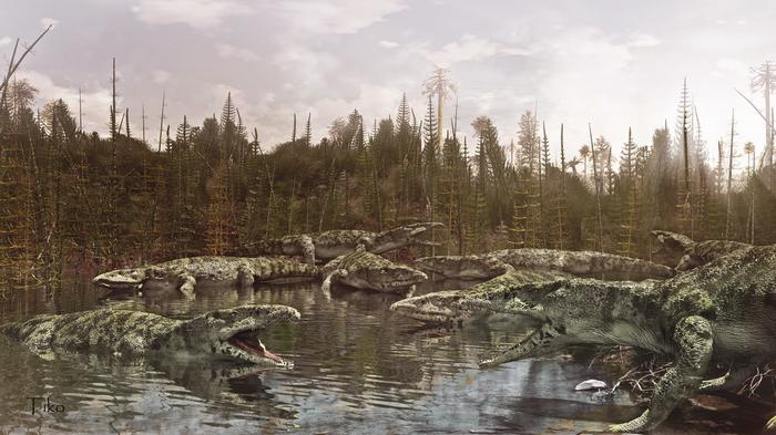 Протерозух Zbrush, 3ds max, Фотоманипуляции, Триасовый период, Доисторические животные