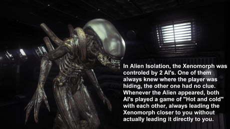 Как сделать великолепного врага в хороре Alien: Isolation, Ксеноморф, Картинка с текстом, Английский язык, Перевод, Gamedev