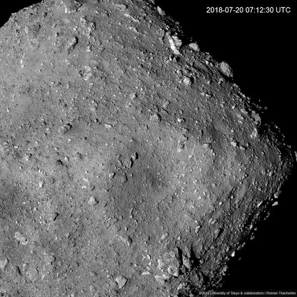 ВРАЩЕНИЕ АСТЕРОИДА РЮГУ С ВЫСОТЫ 6КМ! Астероид, Рюгу, Хаябуса-2, Космос, Астрономия, Вселенная, Гифка