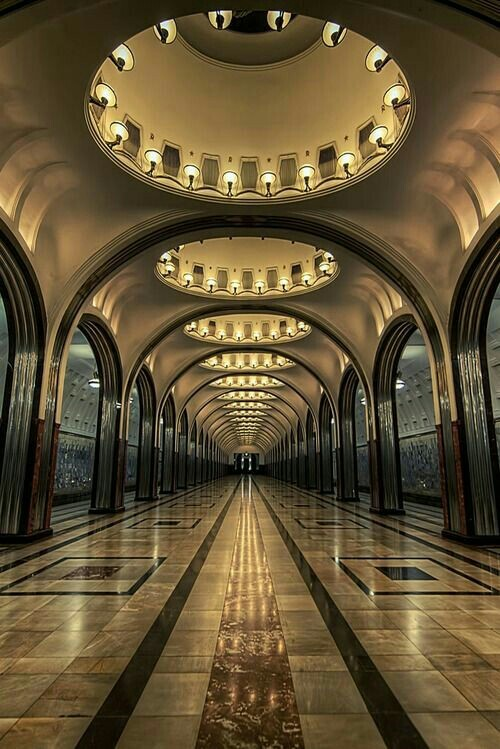 Станция Маяковская, Москва.