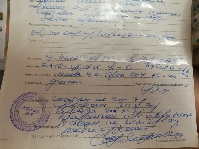 Медицинский почерк(помощь в расшифровке) Медицина, Врачебный почерк