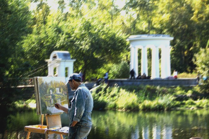 Сентябрь прошлого года. Фотография, Начинающий фотограф, Парк, Художник, Осень, Екатеринбург