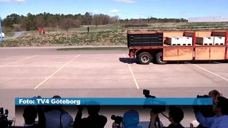 Система предупреждения столкновения Volvo дала сбой на презентации.