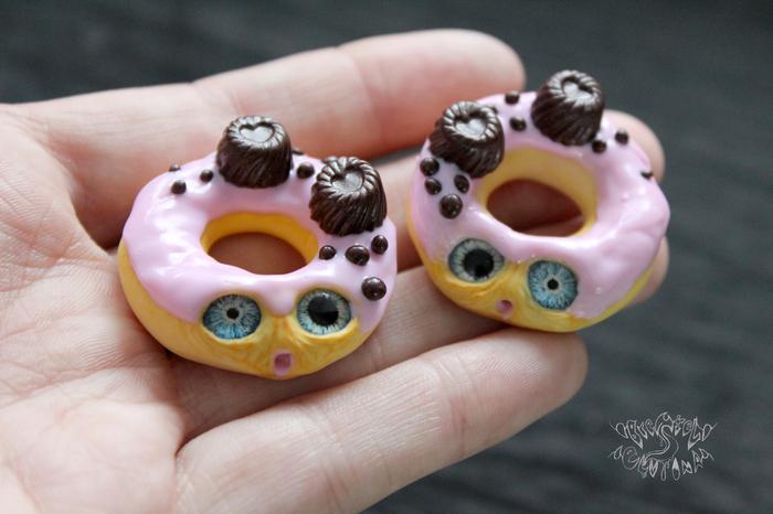 ГМО пончики) Полимерная глина, ГМО, Пончики, Крипота, Милота