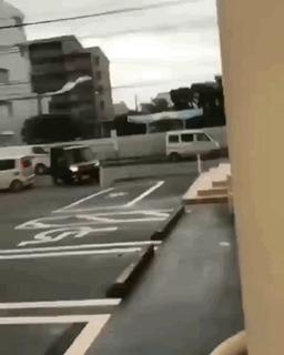 Непогода в Японии.