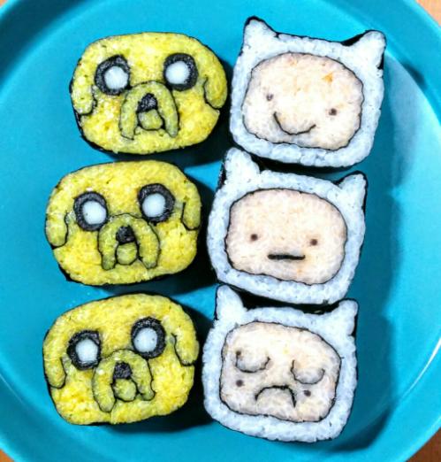 Smiling Sushi Roll Суши, Япония, Длиннопост, Искусство