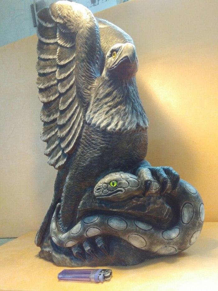 Ручная работа из природного Уральского камня кальцит Резьба по камню, Длиннопост, Кальцит