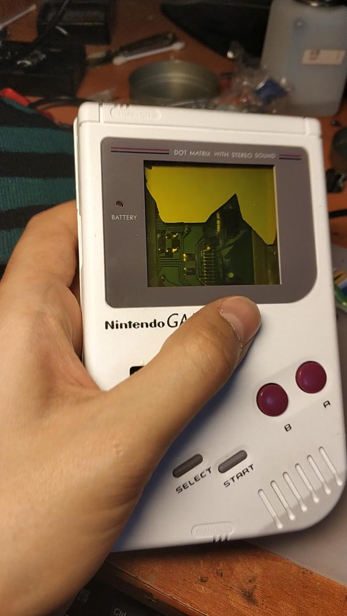 Восстановление Gameboy original + подсветка Nintendo, Gameboy, Кирпичи, Восстановление, Ремонт, Длиннопост