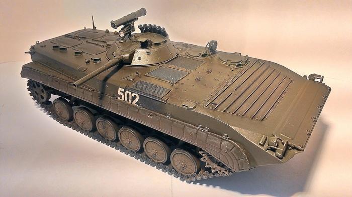 БМП-1П, 1:35 Моделизм, Масштабная модель, Бмп, Длиннопост, Стендовый моделизм, 1:35