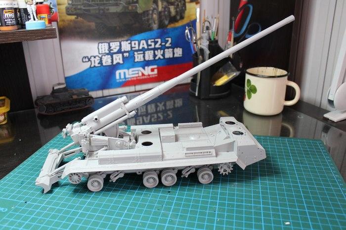 САУ 2С7 «Пион» - 203мм чистого ядерного беспредела. Стендовый моделизм, Модель, Техника, САУ, Артиллерия, Сборная модель, Длиннопост