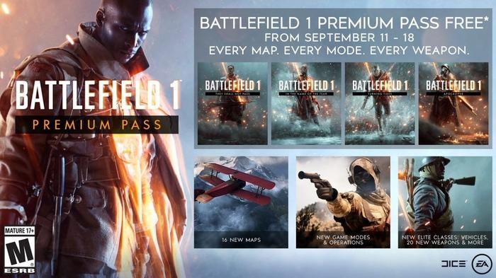 Premium Pass для BF1 + Premium для BF4 Battlefield 1, Premium pass, Origin, Халява, Без рейтинга, PSN, Xbox