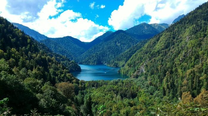 Оз. Рица Красота природы, Озеро, Пейзаж, Сегодня