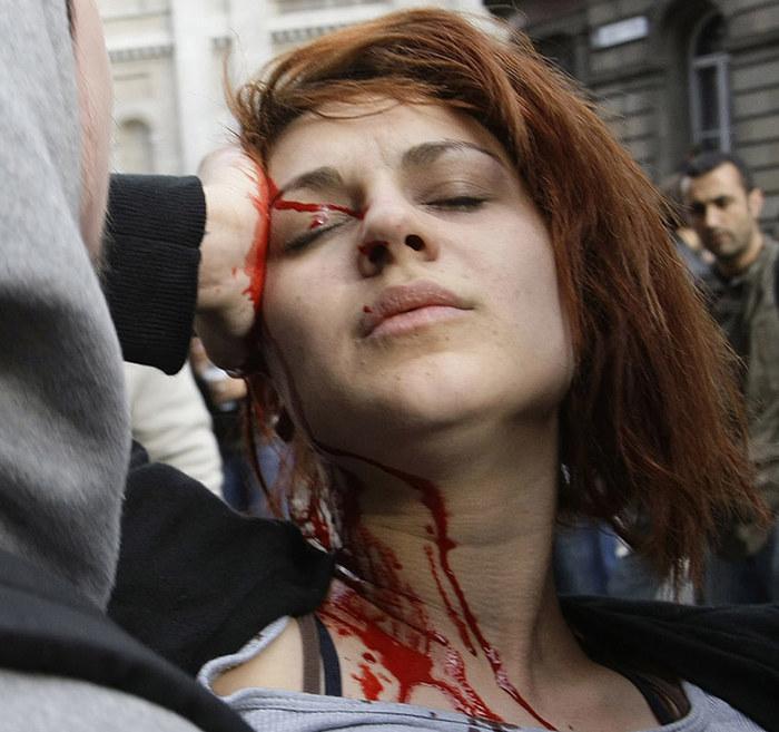 Почти Протест, Лондон, Длиннопост, Гифка