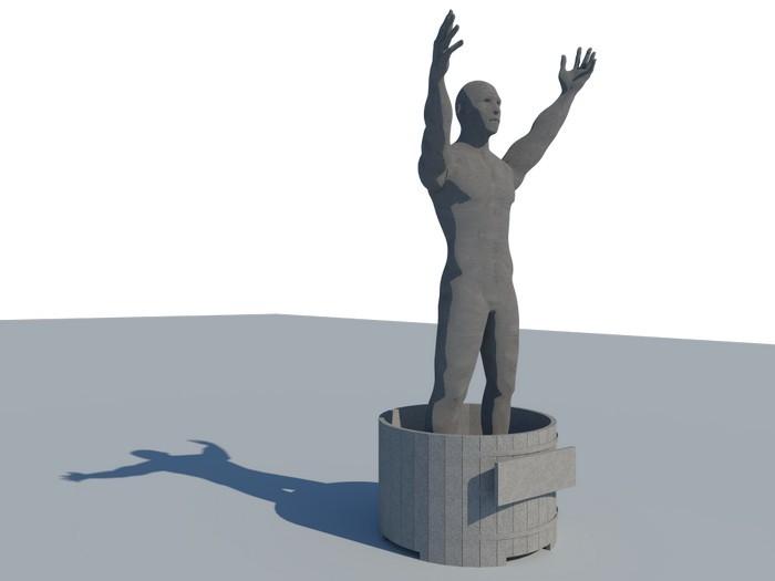 Рядом с замороженными стройками появятся памятники обманутым дольщикам Памятник, Долгострой