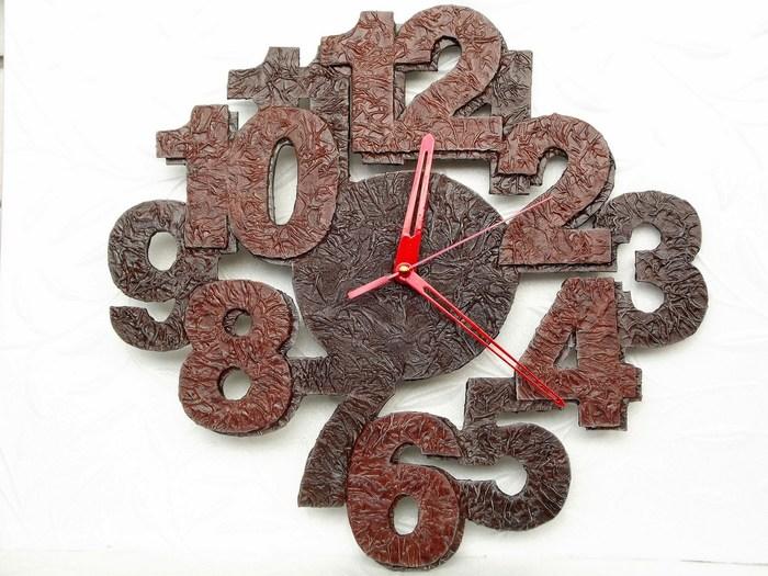 Часы из салфеток и ПВА Часы, Настенные часы, Длиннопост