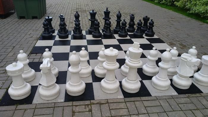 В одном из дворов.. Шахматы, Двор