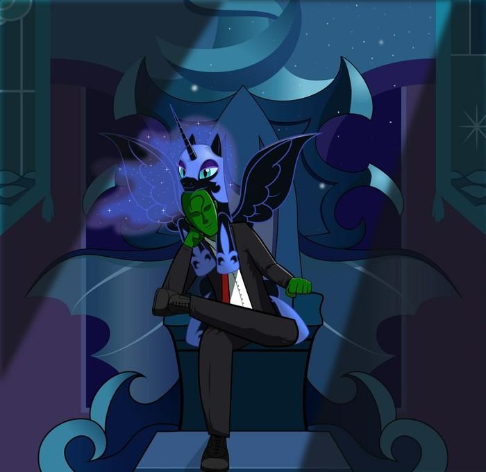 Вечноночные посиделки My little pony, Ponyart, Nightmare moon, Анонимус, Человек