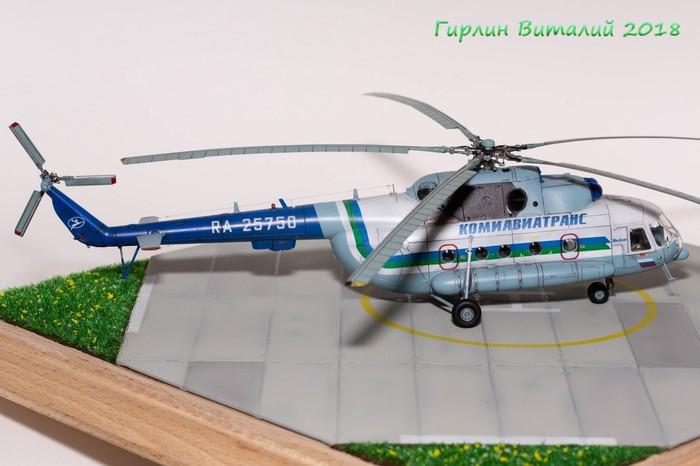 """Пластиковая модель вертолета Ми-8 от """"HobbyBoss"""" 1/72 Модель, Ми-8, Масштабная модель, Вертолёт, Сборная модель, Hobbyboss, Mi-8, Длиннопост"""