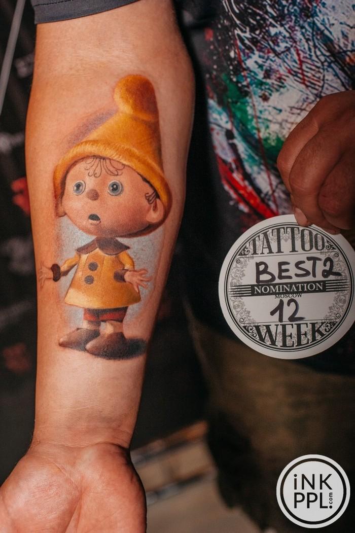 """Moskow tattoo week 2018. Татуировка """"Гномик Вася"""". Тутуировка, Лига любителей татуировки, Тату, Tattoo, Гномик вася, Видео"""