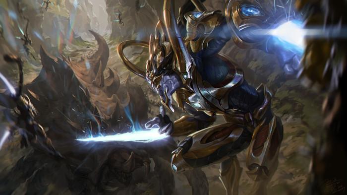 Zealot by Jun Seong Park Zealot, Blizzard, Starcraft 2:Legacy of the Void, Artstation, Starcraft