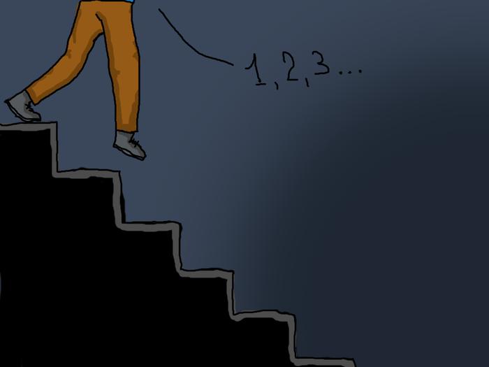 В темном подъезде Лестница, Подъезд, Темнота, Ложная ступенька, Общитался, Шаг в пустоту, Длиннопост