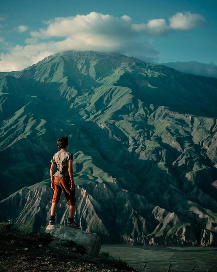 Вид на гору Гестинкиль, республика Дагестан, 2788м.