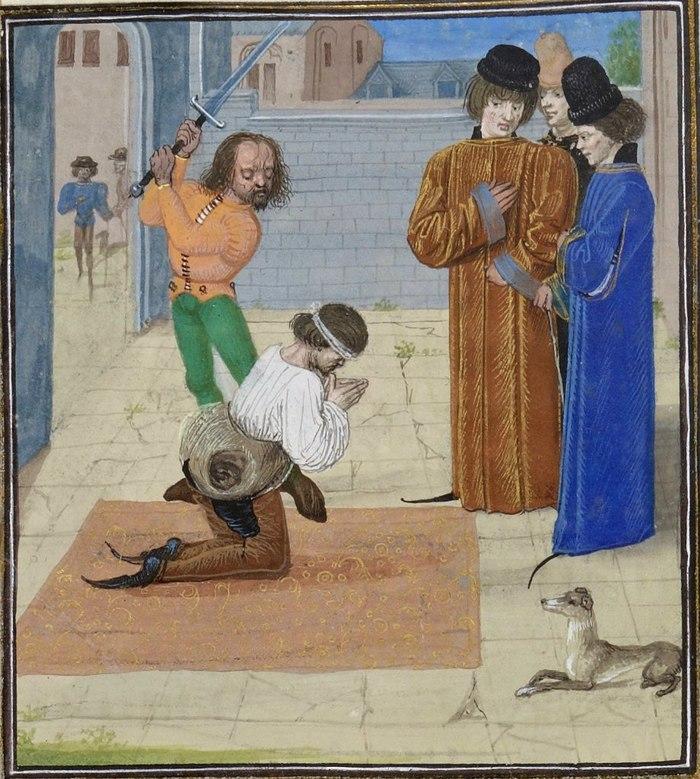 Средневековые казни. Внимание, вопрос... Лига историков, Казнь, Средневековье, Миниатюра, Длиннопост