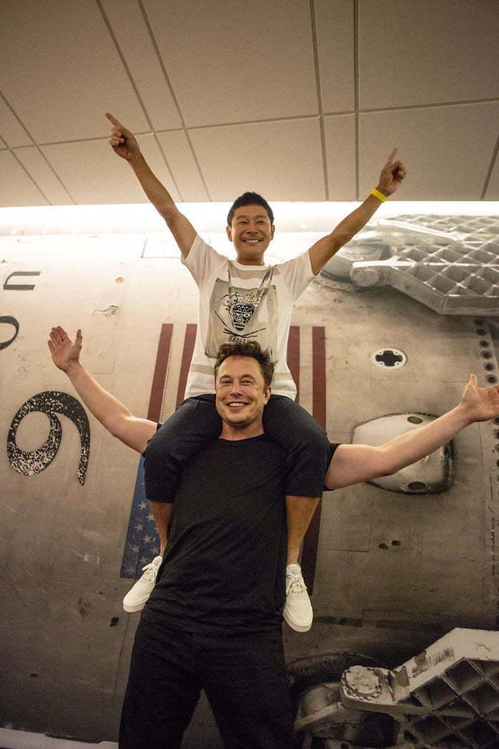 70 миллионов долларов за поездку верхом на Илоне Маске Фотография, Spacex, Илон Маск, Юсаку Маэдзава, Миллиардеры, Радость, Туристы