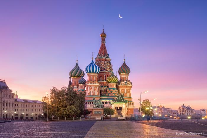 Собор Василия Блаженного Собор Василия Блаженного, Утро, Москва, St Basils Cathedral, Фотография