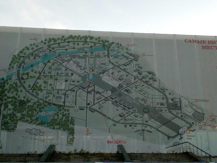 Карта вднх выглядит как тысячелетний сокол