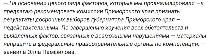 Элла Памфилова объяснила причину отмены выборов в Приморье Политика, Приморский край, Выборы, Панфилова, ЦИК, Пятый Канал, Общество, Давление, Видео, Длиннопост