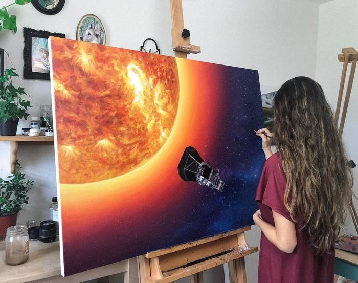 Parker Solar Probe Космос, Солнце, Рисунок, Parker Solar Probe