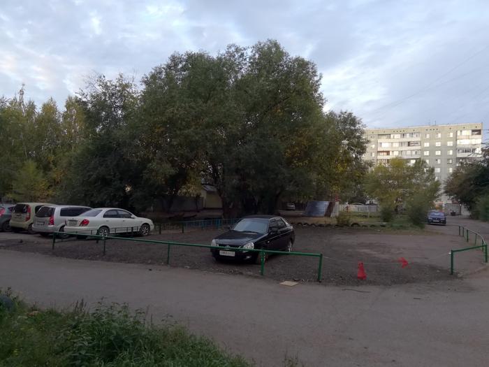 Самозахват парковки во дворе. 99 lvl. Парковка, Захват, Придомовая территория, Омск