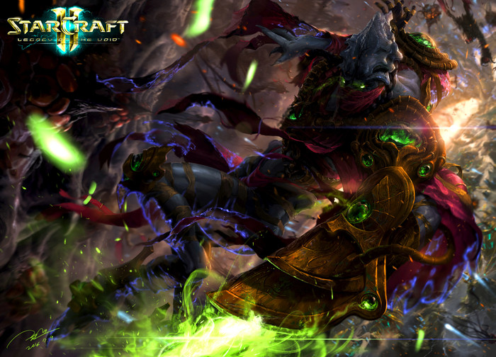 Zeratul by Jun Seong Park Zeratul, Blizzard, Starcraft 2:Legacy of the Void, Artstation, Starcraft