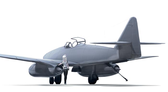 Messerschmitt Me.262 (художник: Rokuwata Tomoe)
