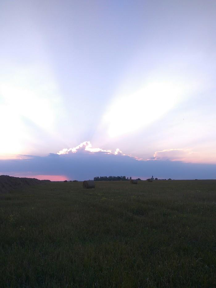 """Закат последнего """"летнего"""" денька в этом году(( Лето жара, Закат, Длиннопост, Домодедово"""